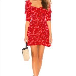 For Love & Lemons Red Polka dot mini dress - S